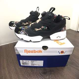 Reebok instapump fury gt 圖騰 36/us6/23cm充氣女鞋 BD3095