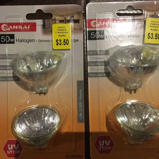4x Halogen Bulbs 50W - Brand New