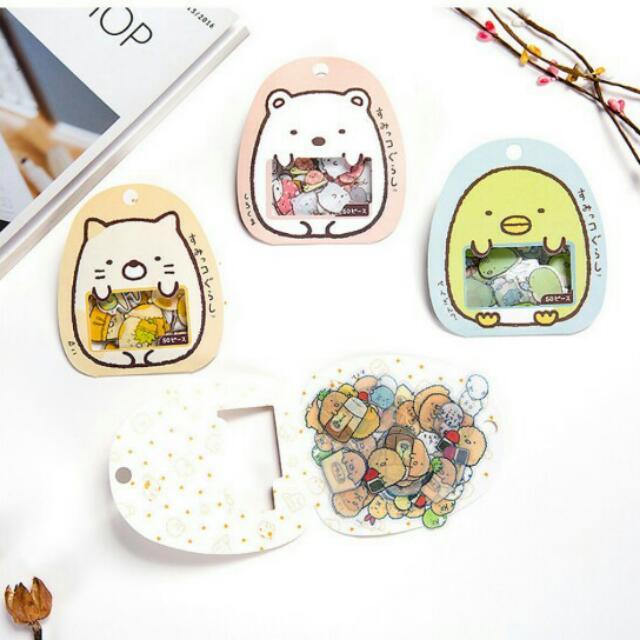 (4包)日本(袋裝)角落生物可愛貼紙