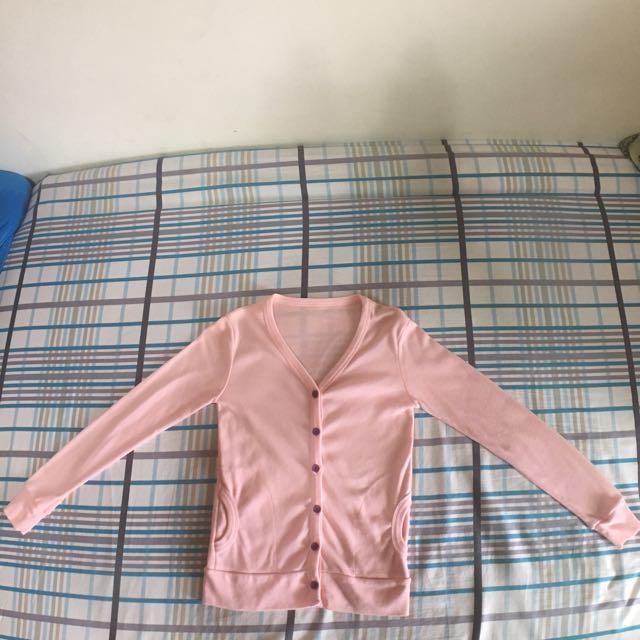 粉色薄外套