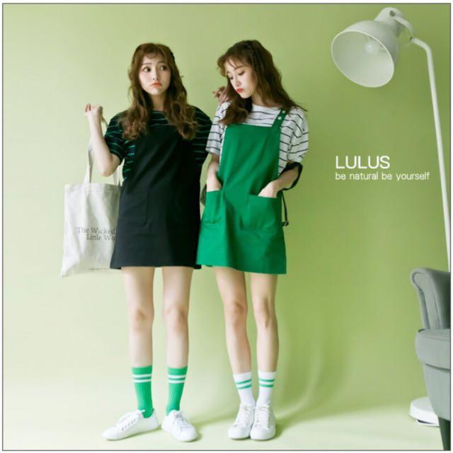 吊帶裙-綠