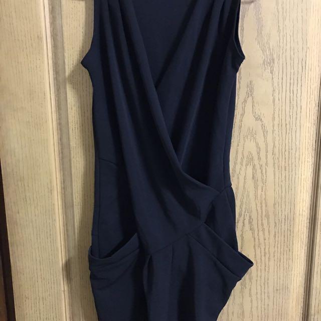 黑色背心連身裙