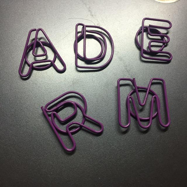 迴紋針 字母