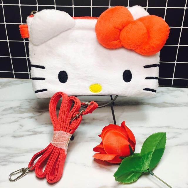 現貨/ 正版授權Hello Kitty絨毛觸控包