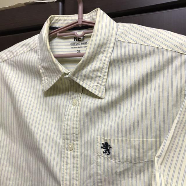 情人的黃襯衫 NET 黃色/缐條 襯衫 XL