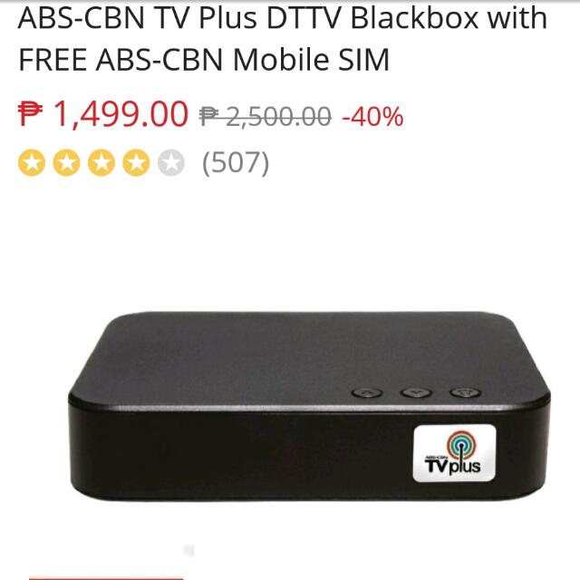 Abs Cbn Tv Plus Blackbox Kitchen Appliances On Carousell