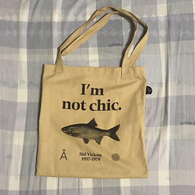 韓國Aland購入 Logo 魚 環保背袋