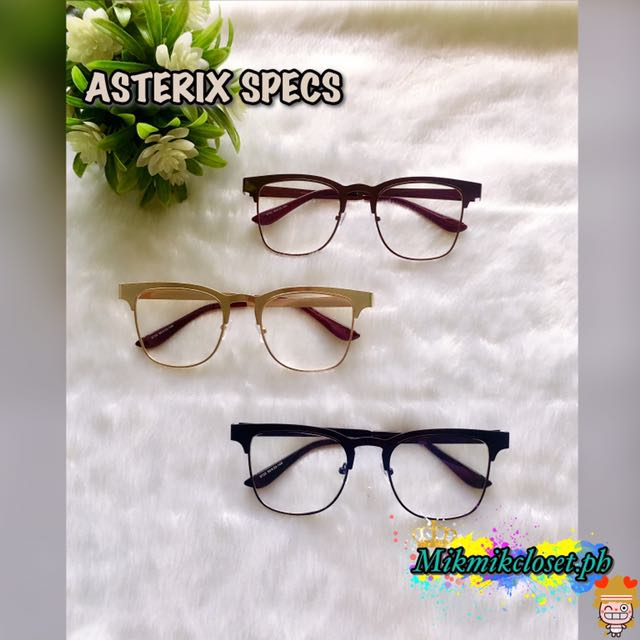 asterix specs preloved women s fashion accessories on carousell