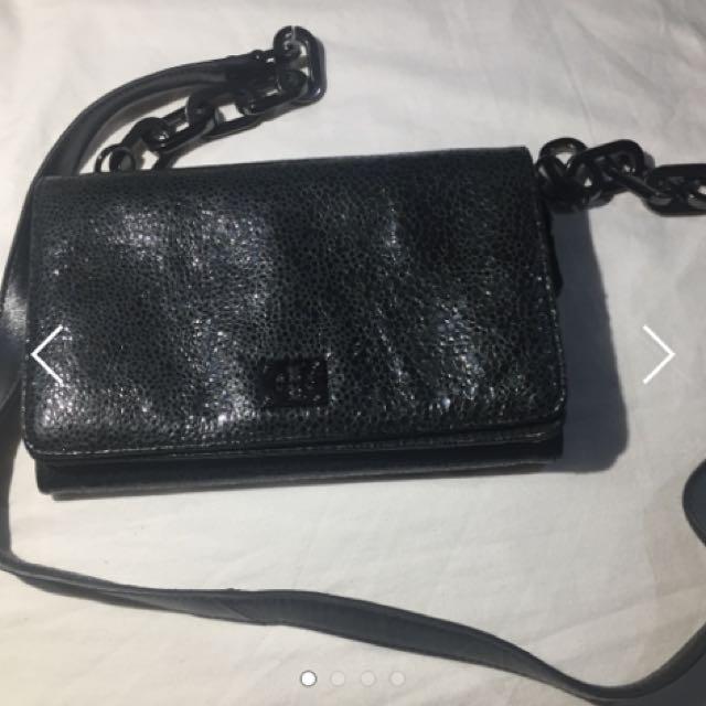 Authentic Tory Butch Metallic Sling Bag