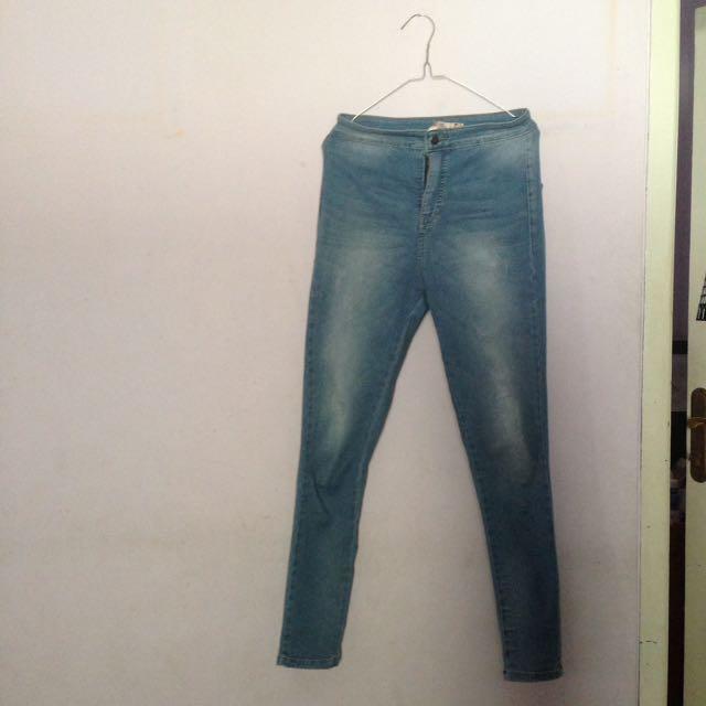 (BARU) Celana Highwaist Ripped Jeans / HW / Jegging