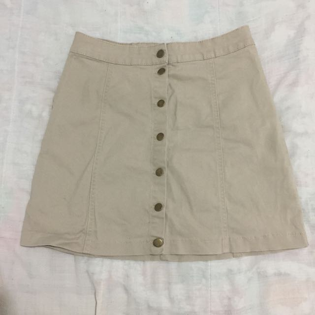 Beige Skirt With Buttons