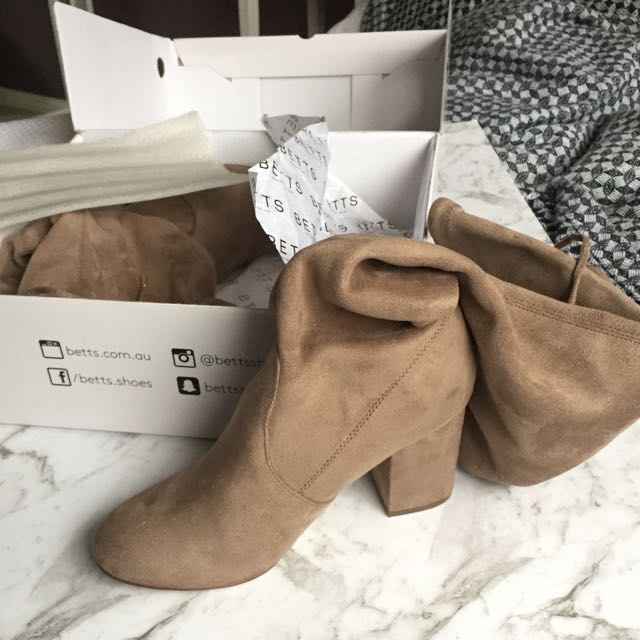 Betts Taupe Over The Knee Boots