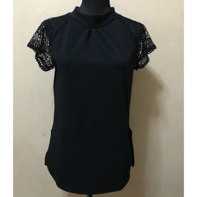 Black Crepe Top