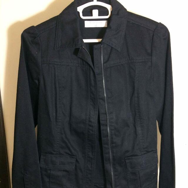 Black Khaki Jacket By Giordano