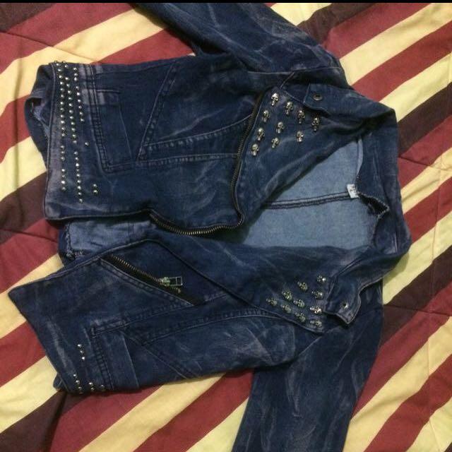 blazer jeans outerwear