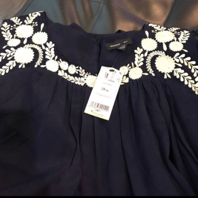 BN MANGO Suit Embroidered A Line Dress