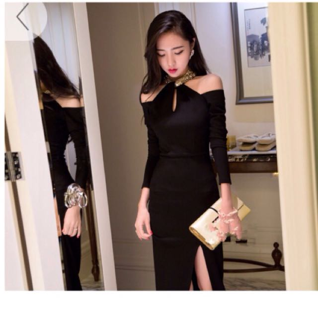 Last Piece Bnwt Korea Style Evening Dress Women S Fashion