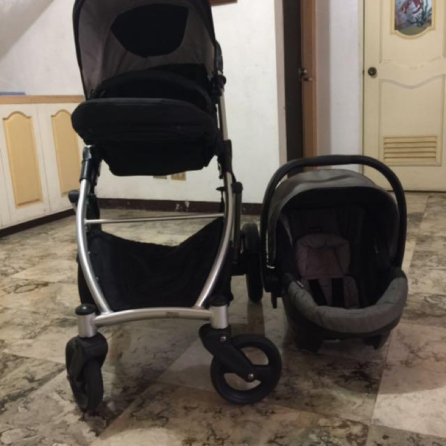 Britax B-ready Travel System (stroller with car seat)