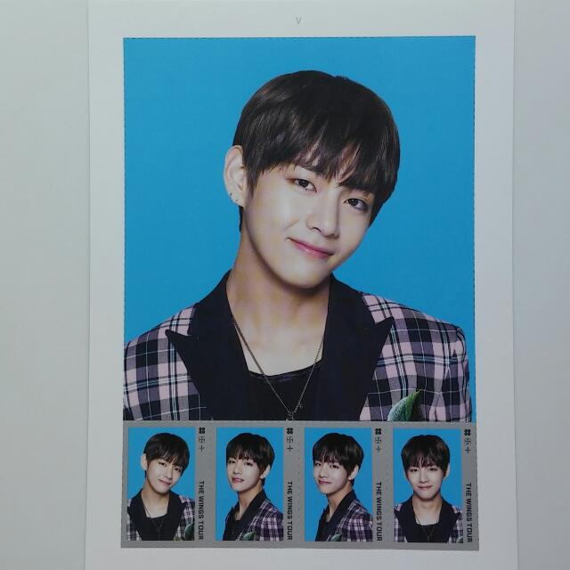 BTS The Wings Tour Official Postage Stamp Seal
