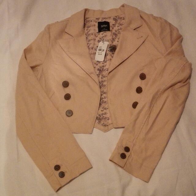 Cameo Crop Jacket - Pink - Sporstgirl - Size 12