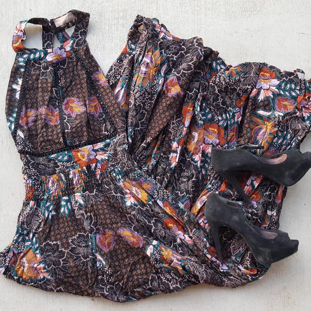 Cherry Shop Brand Full-length Boho Dress