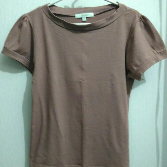 Chic Brown Blouse (Blus Coklat)