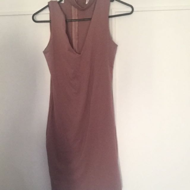Choker Neck Dress