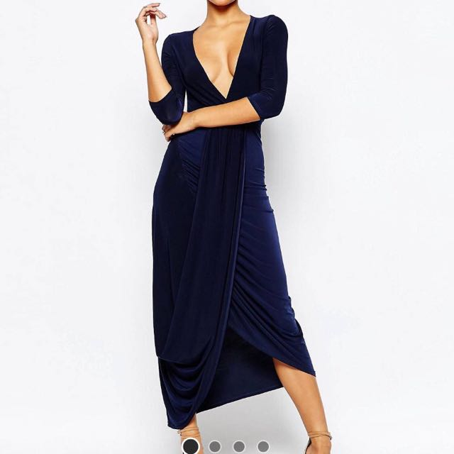 CLUB L Slinky Wrap Dress