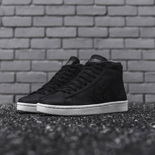 Converse Pro Leather '76 Lux Leather Mid Black White