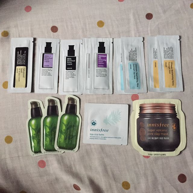 COSRX and Innisfree Sample Size Skin Care