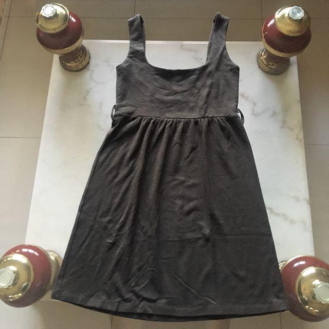 Dark Brown Simple Dress