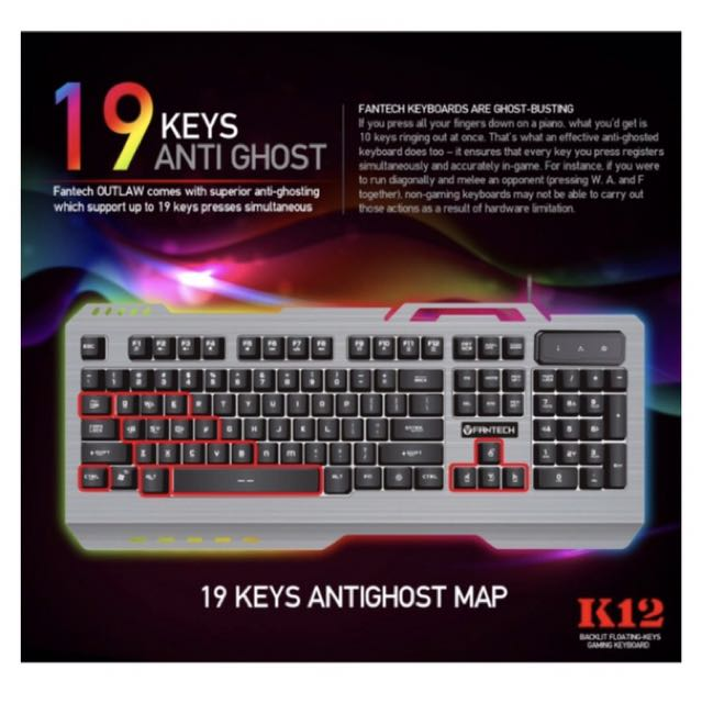 Fantech K12 Gaming Keyboard