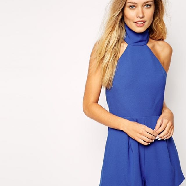 Finders Keepers The Label Limitless Playsuit In Cobalt