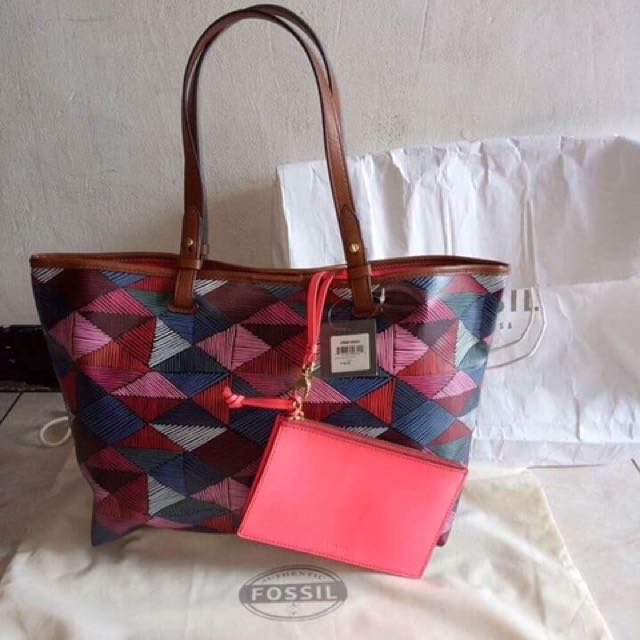 Fossil tote bag authentic (PL Murah)