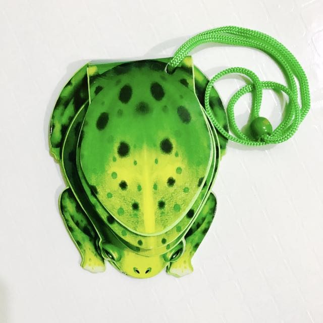 Frog Foam Book Necklace