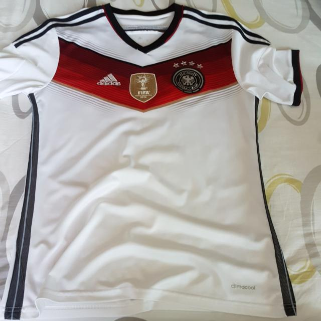 8655113d424 Germany Home Jersey With World Cup 2014 Win Badge