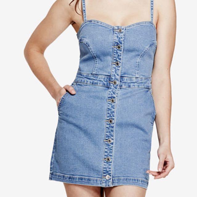 Guess Denim Bodycon Mini Dress Size 6