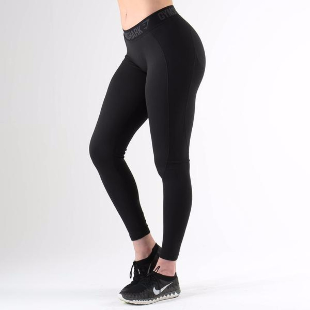 b6dd89dd35b287 Gymshark Flex Leggings (Black Marl/Black), Sports, Sports Apparel on  Carousell