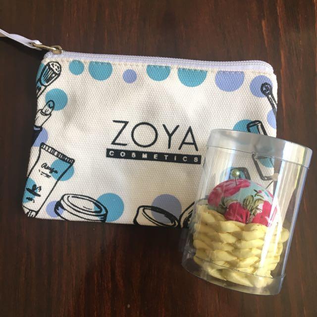 HARGA UNTUK 2 PCS: Zoya Pouch & Pin Cushion