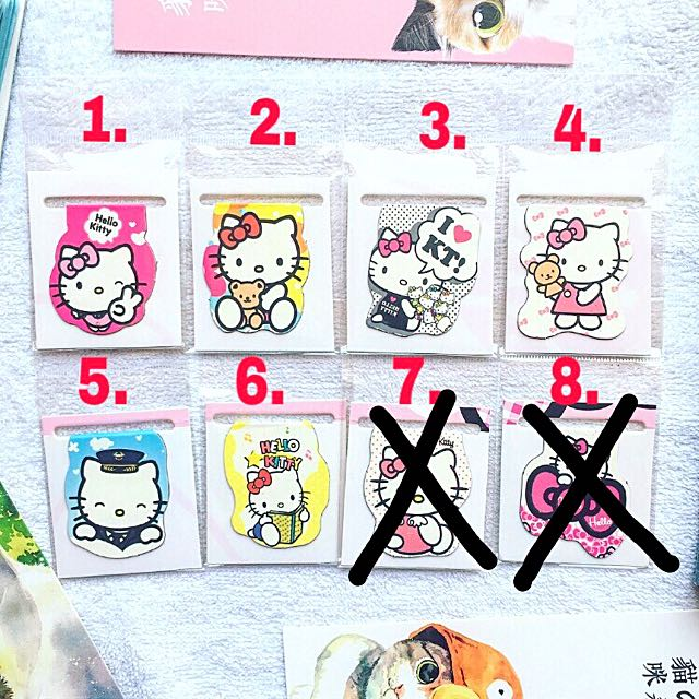 Hello Kitty Magnetic Bookmarks