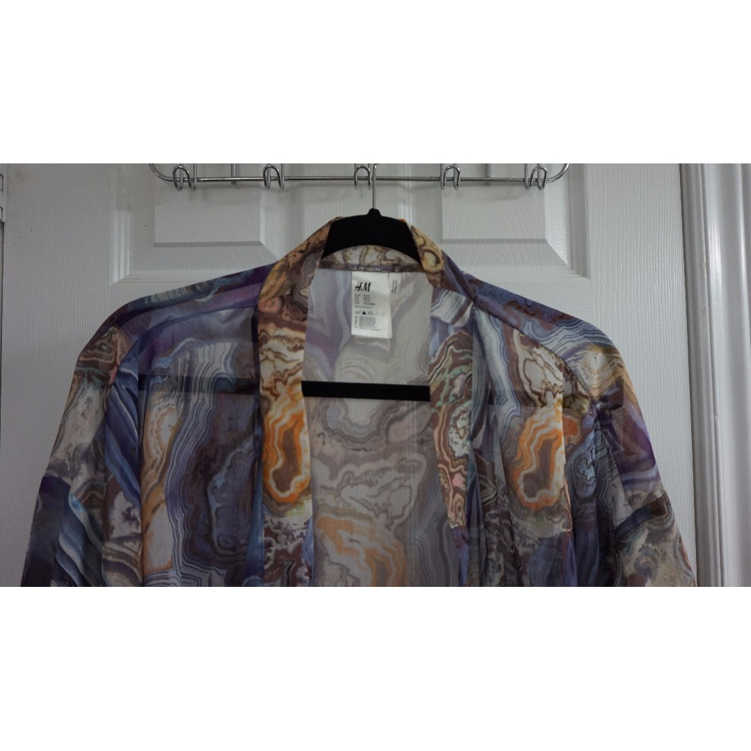 H&M Geode Print Kimono (Size M)