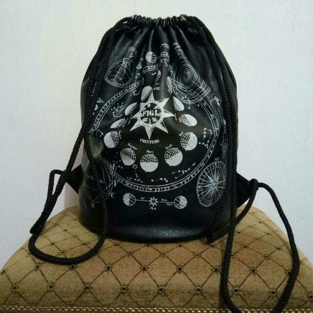 H&M Tas Serut Black / Backpack
