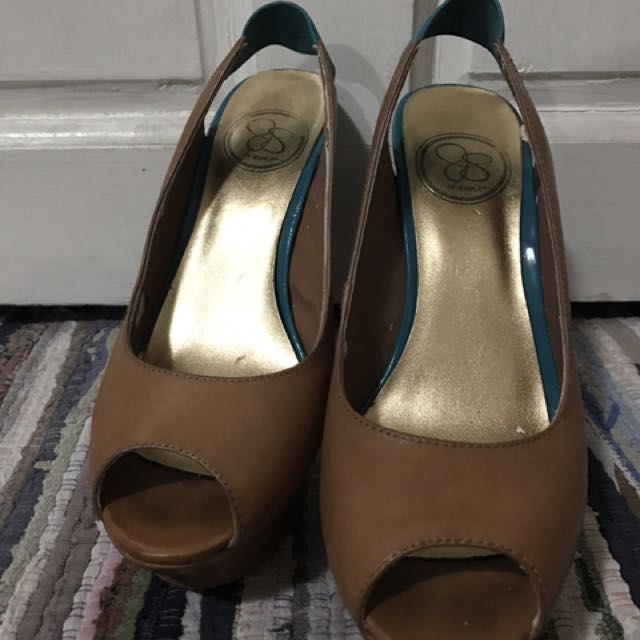 Jessica Simpson Platform Open-toed Pump Shoes