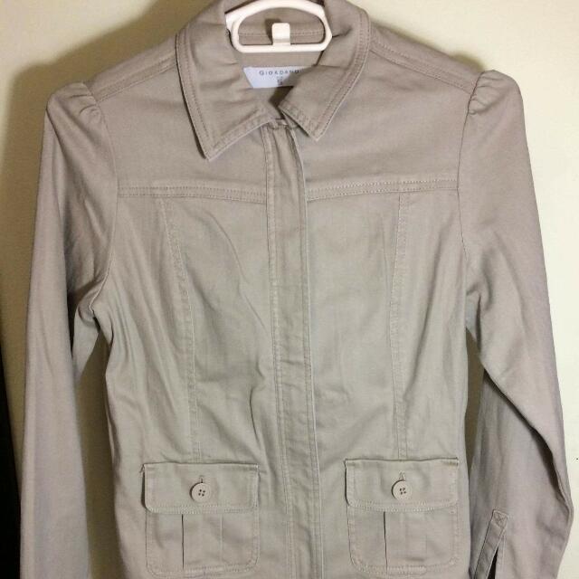 Khaki Jacket By Giordano