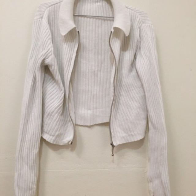 Knitted White Jacket