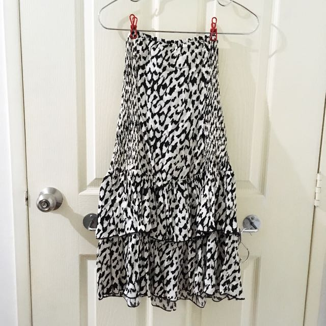 Leopard Print Tube Dress