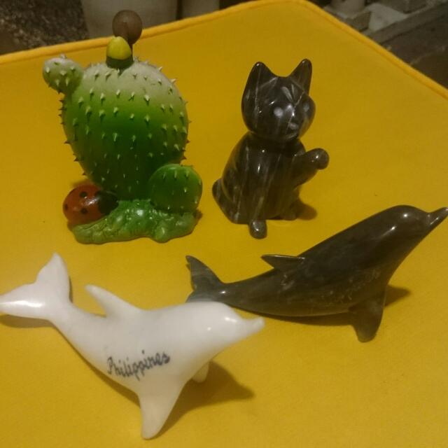 Marble Dolphin & Cat, Cactus Penholder