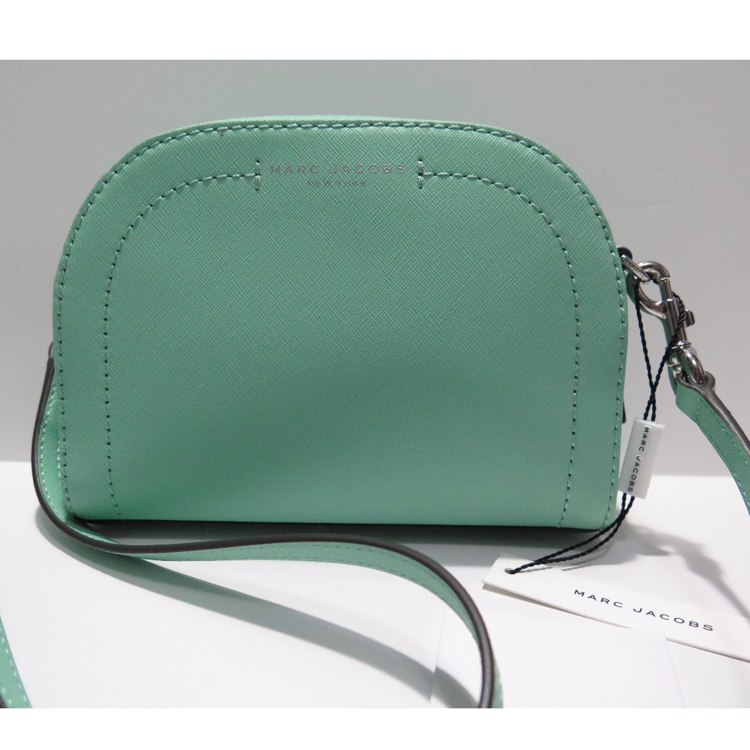 Marc Jacobs Mint Green Leather Crossbody Bag Purse BRAND NEW