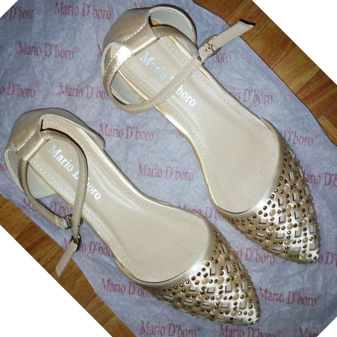 Mario D' boro Flat Studded Shoes