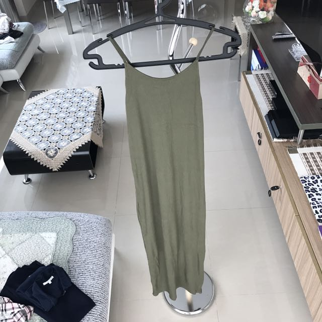 Maxi Dress Army Green Colour By Topshop